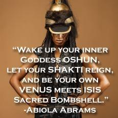 beautiful dark-skinned woman dressed in a military uniform Spartan.