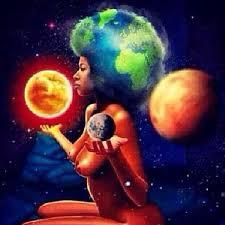 cosmic goddess afro