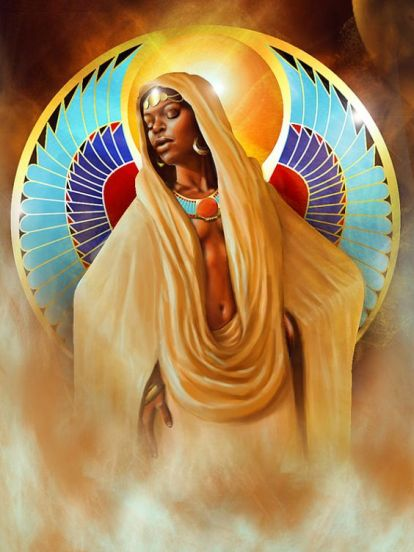 egyptian_Black Queen Isis