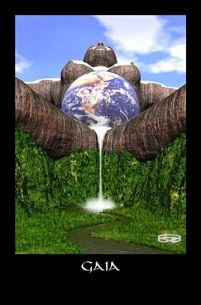 Meet Gaia, mother of life, Spirit of Earth, queen of Creation. Gaia in full power and glory. Accept her gift that is your life. Treat her with respect. Join in partnership and create Eden on Earth.