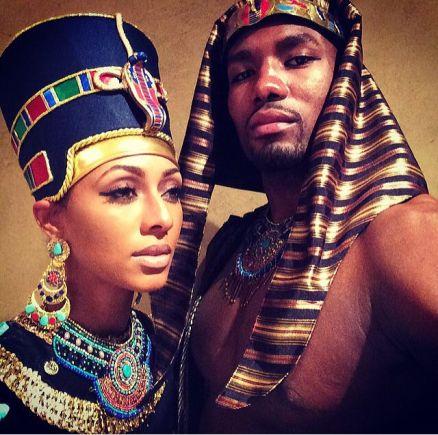 keri-hilson-as-queen-nefertiti-and-serge-ibaka-as-pharaoh-akhenaten-halloween-2014-2